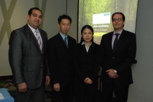 Roberto Carlos Jorge, Randy Chang, Mariana Ju y Fernando Baquero.