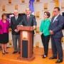 Rosario Altagracia Graciano de los Santos, Roberto Saladín Selín, Julio César Castaños Guzmán, Carmen Imbert Brugal y Henrry Mejía Oviedo, miembros del Pleno de la JCE.
