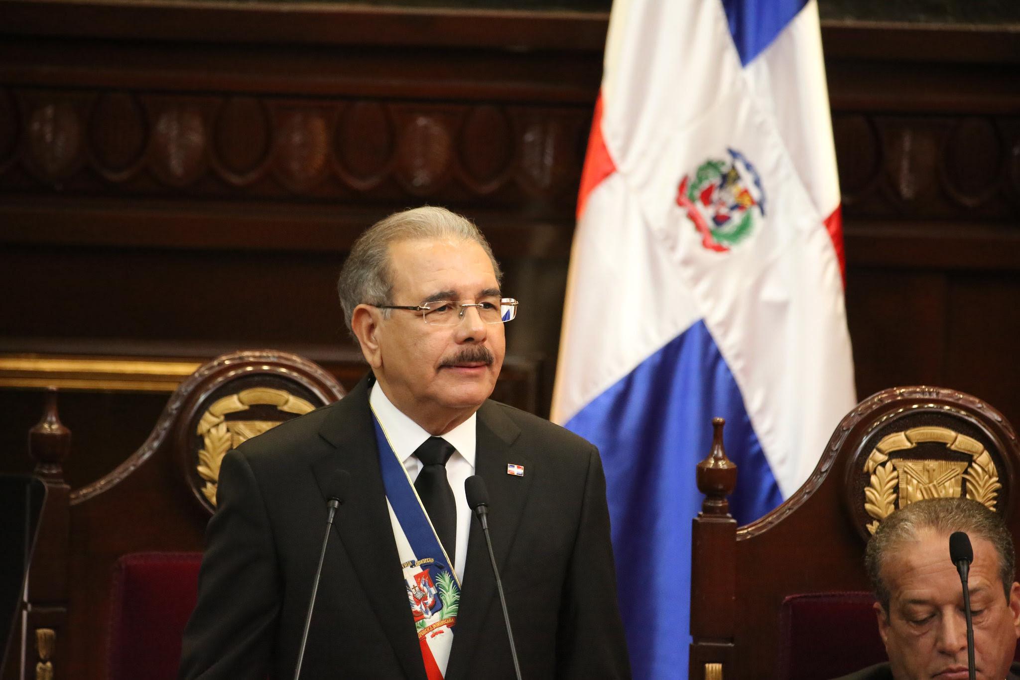 Presidente en discurso