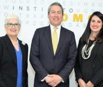 Belkis Guerrero Villalona, Leonel Melo y Laura Piantini Fuentes.