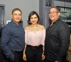 Bismark Morales, Merkis Diaz y Junior Jorge.