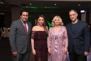 César Gómez, Karumi Suazo, Anny Camacho y Frank Cabreja.