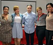 Milka Hernández, Elisa Carolina Tavares, Cherny Reyes, Ana Mercy Otáñez y Rosa Arredondo.