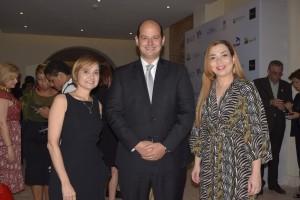 Reyna Díaz, Alejandro Cambiaso y Ambarlucia Montero.