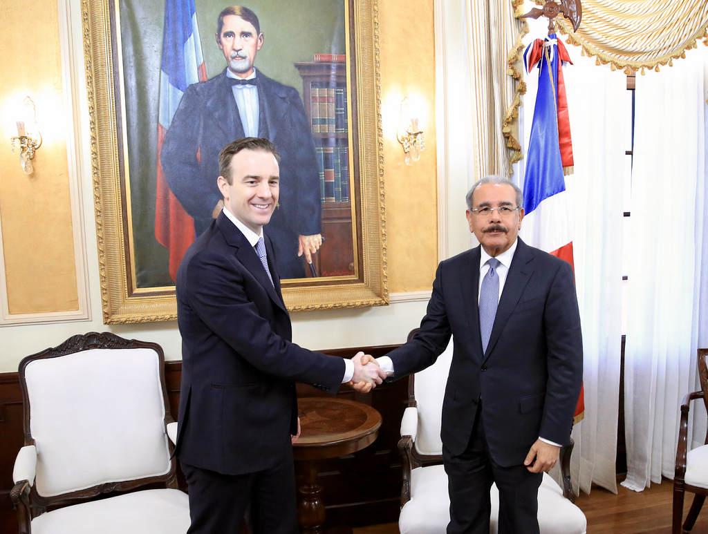 Jet Blue en Palacio con el Presidente Danilo Medina