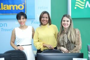 Marsella Rollins, Grecia Volquez y Michelle Geara