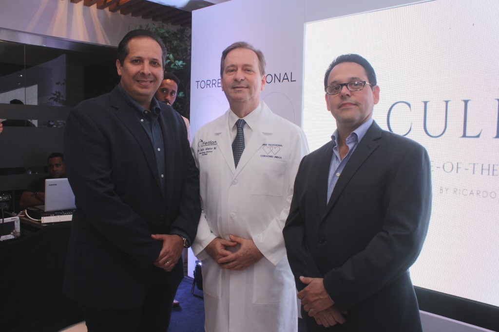 Dr. Victor Atallah, Dr. Julio ALvarez y Dr. Fausto Santos