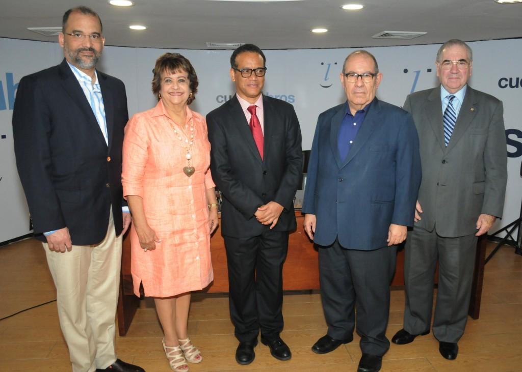 Olivo Rodriguez Huerta, Veronica Sencion, Basilio Belliard, David Alvarez Martin y Manuel Garcia Arevalo.
