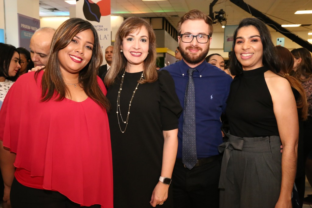 Gema Camacho, Dulce Cabreja, Paulo Esterro y Lucy Brea